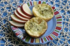 Crustless Zucchini and Pesto Mini-Quiches - Lunch Version