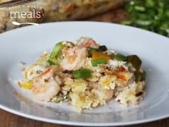Low FODMAP Shrimp and Rice Bake