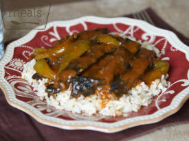 Mom's Pepper Steak, Veganized