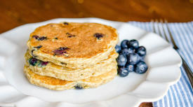 Berry Delicious Blueberry Oatmeal Pancakes