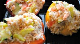 Summer Salmon Stuffed Peppers