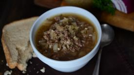 Slow Cooker Ground Beef and Sauerkraut Soup