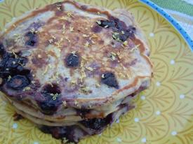 Lightened Up: Blueberry Lemon Pancakes