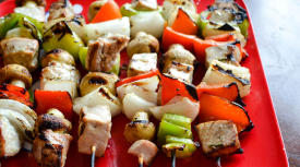 Grilled Tuna Kebabs