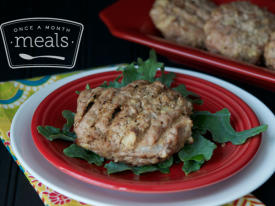 Gluten Free Dairy Free Juicy Apple Turkey Burgers- Lunch Version