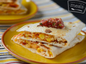 Chicken & Corn Quesadillas
