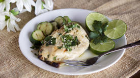 Grilled Cilantro Lime Chicken – Lunch Version