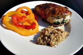 Grilled Spinach Stuffed Chicken