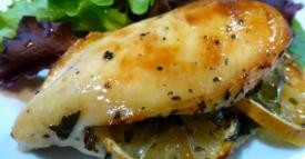 Lemon and Spinach Stuffed Chicken