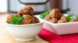 Instant Pot Paleo Apple Glazed Turkey Meatballs