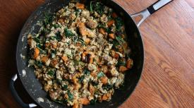 Paleo Sweet Potato and Sausage Egg Scramble