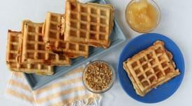 Apple Strudel Waffles
