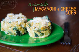 Spinach Mac and Cheese Cups