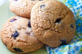 Gluten Free and Dairy Free Blueberry Breakfast Cookies