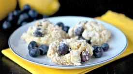 Gluten Free Dairy Free Lemon Blueberry Scones