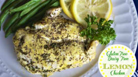 Instant Pot Lemon Chicken – Gluten Free Dairy Free Version