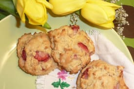 Gluten Free Dairy Free Strawberry Scones