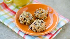 Carrot Cherry Breakfast Cookies
