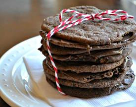 Salted Chocolate Nutella Cookies