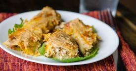 Chicken Enchiladas with Pumpkin Cream Sauce