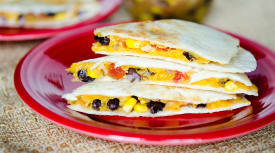 Black Bean Salsa Quesadillas