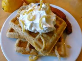 Gluten Free Dairy Free Lemon Poppy Seed Waffles