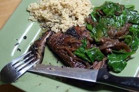 Vegan 'Meat and Potatoes' (Portabello 'Steaks')