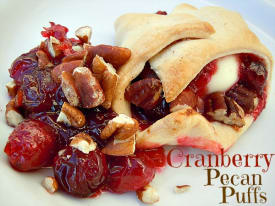 Cranberry Pecan Puffs