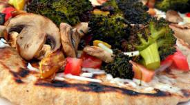 Grilled Veggie Flatbread Pizzas
