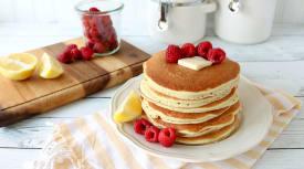 Gluten Free Dairy Free Raspberry Lemon Pancakes