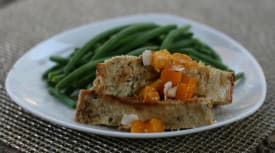 Tropical Chicken Meatloaf – Lunch Version