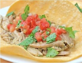 Gluten Free Dairy Free Slow Cooker Chicken Taco Filling