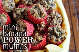 Mini Banana Power Muffins