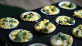 Paleo Beef Sausage and Broccoli Egg Muffins