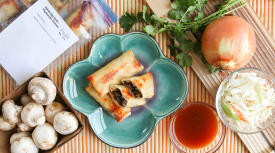 Baked Egg Rolls – Vegetarian Version
