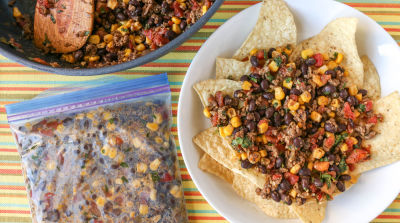 Beef and Bean Taco Topping- Traditional Version