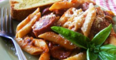 Spicy Sausage and Pepper Penne