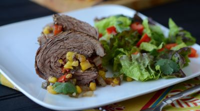 Southwest Flank Steak Pinwheels
