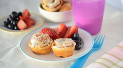 Mini Cinnamon Roll Muffins