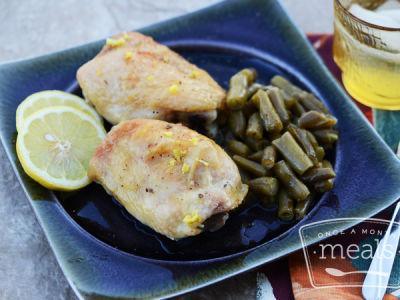 Lemon Pepper Chicken with Green Beans
