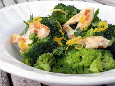 Light Lemon Chicken with Broccoli