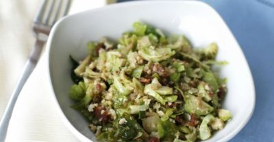 Paleo Bacon and Brussel Sprout Hash