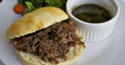 Slow Cooker French Dip- Dinner Version