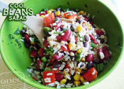 Cool Beans Salad-Lunch Version