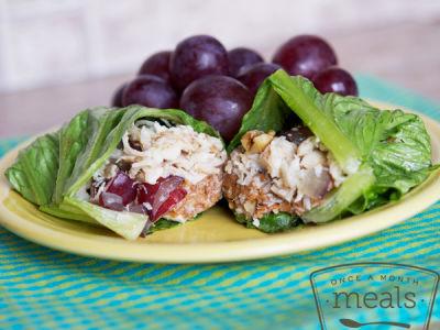 Gluten Free Dairy Free Chicken Salad Lettuce Wraps