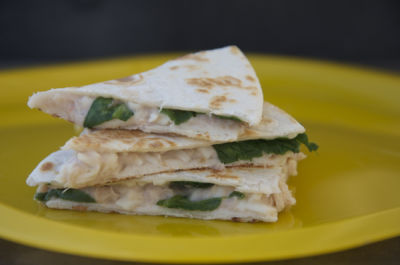 Tuna, White Bean and Spinach Quesadilla