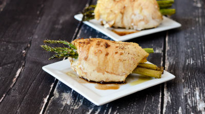 Instant Pot Asparagus Stuffed Chicken Breasts