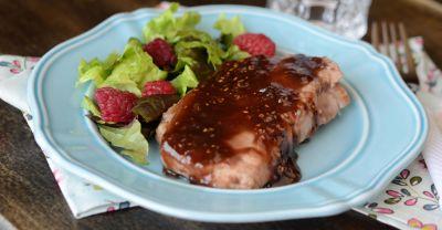 Raspberry Glazed Pork Chops