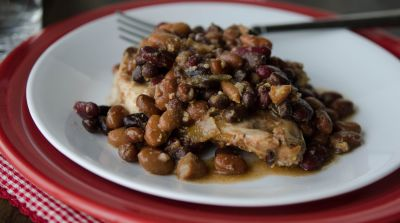 Slow Cooker Baked Bean Chicken