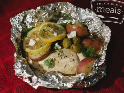 Greek Chicken Potato Packets